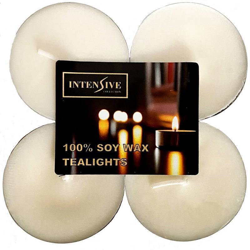 Intensive Collection 100% Soy Wax Maxi Light Tealights ~ 10 h 4 pcs