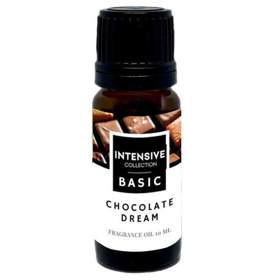 Intensive Collection Amber Basic fragrance oil in natural glass bottle 10 ml - Chocolate Dream