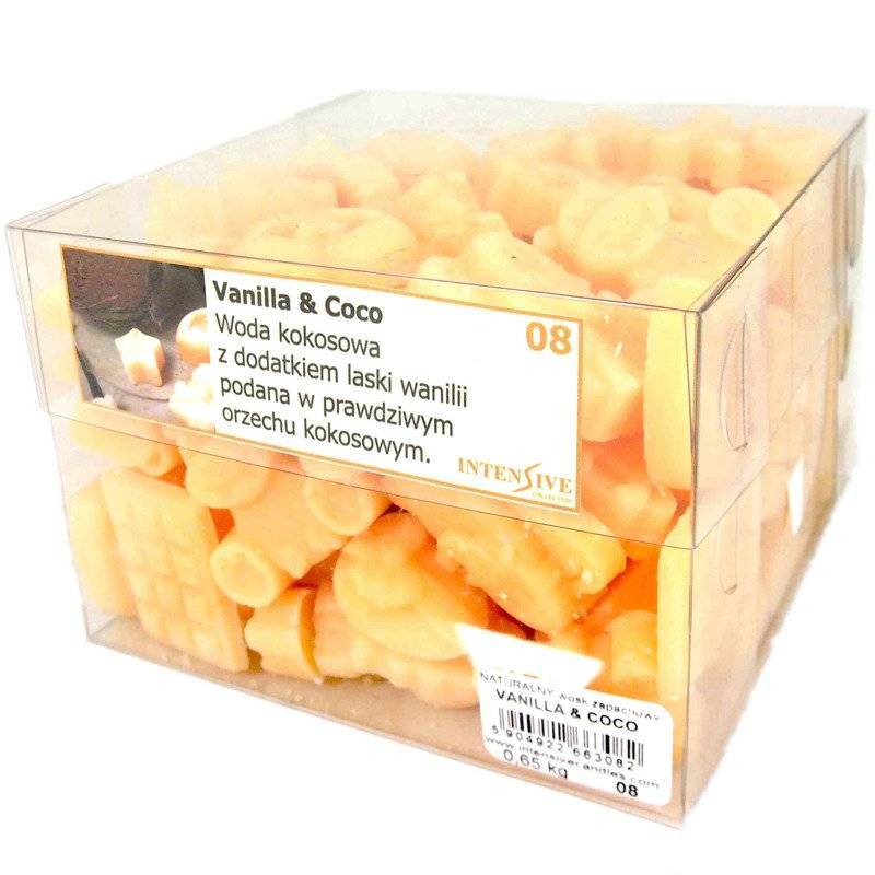 INTENSIVE COLLECTION Scented Wax kg wosk zapachowy - 650 g - Vanilla & Coco